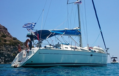 charter yacht for sailing holiday in Crete